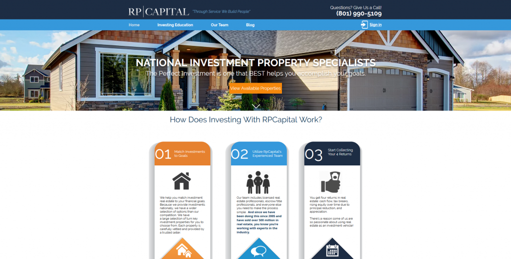 RP Capital/ Real Estate Affiliate Programs