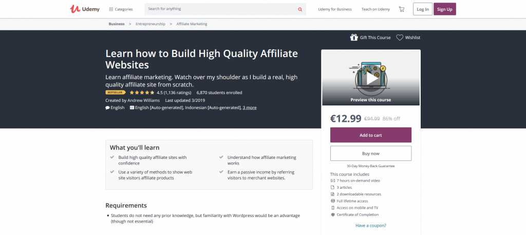 Learn How to Build High- Quality Affiliate Websites